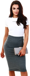 Noisy May Grey / Medium Grey Melange Normal Waisted Skirt