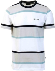 Nicce Glacier Grey/White/Deep Navy Pillar T-Shirt