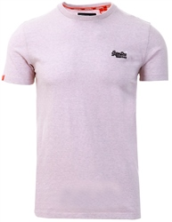 Superdry Chalk Pink Orange Label Vintage Embroidered T-Shirt
