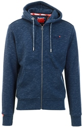 Superdry Abyss Navy Feeder Orange Label Classic Zip Hoodie