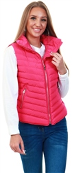 Tokyo Laundry Beetroot Pink Chervil Padded Gilet With Funnel Neck