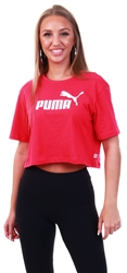 Puma Bright Rose Essentials+ Cropped Women's Tee