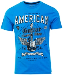 Sth Shore Swedish Blue Guitar Custom Motif Cotton Jersey T-Shirt