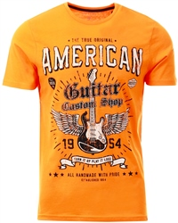 Sth Shore Autumn Clay Guitar Custom Motif Cotton Jersey T-Shirt