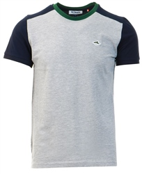 Le Shark Light Grey Marl Padfield T-Shirt With Contrast Sleeves