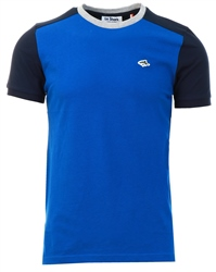 Le Shark Limoges Blue Padfield T-Shirt With Contrast Sleeves