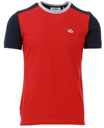 Le Shark Scarlet Sage Padfield T-Shirt With Contrast Sleeves