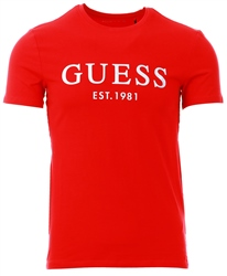Guess Red Front Logo T-Shirt