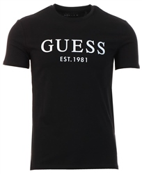 Black Front Logo T-Shirt by Guess