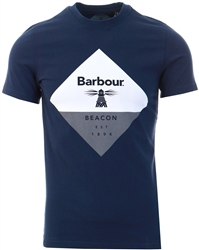 Barbour Beacon Navy Diamond T-Shirt