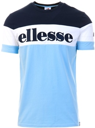Ellesse Light Blue Punto Block T-Shirt