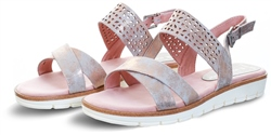 Rose Metallic Platform Sandal by Marco Tozz