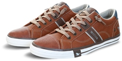 Mustang Cognac / Brown Lace Up Texture Shoe