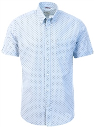Ben Sherman Sky Short Sleeve Polka Dot Shirt