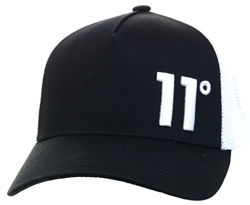 11degrees Black Trucker Cap