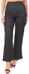 Urban Bliss Black Polka Dot Flare Trouser