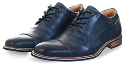 Bull Boxer Blue Leather Lace Up Shoe