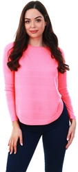 Only Neon Pink Loose Fit Knitted Pullover