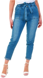 Urban Bliss Blue Denim Liv Paperbag Jean