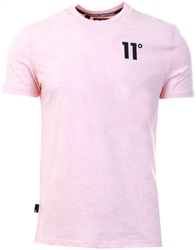 11degrees Powder Pink Marl Core T-Shirt