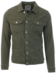 Jack & Jones Olive Alvin Akm 528 Sts Denim Jacket