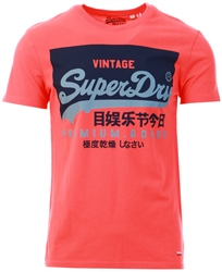 Pink Vintage Logo T-Shirt by Superdry