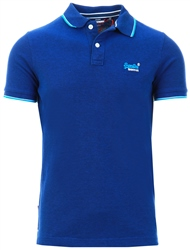 Rich Navy Poolside Pique Polo Shirt by Superdry