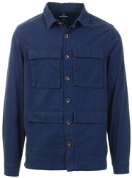 Threadbare Navy Button Up Jacket
