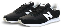 New Balance Black With White 720 Suede Panel Trainer