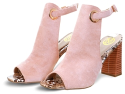 Dv8 Blush Suede Block Heel