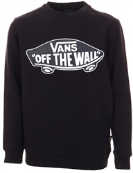 Vans Black-White Outline Boys Otw Crew Sweater