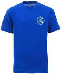 Blue Boys Og Checker T-Shirt by Vans