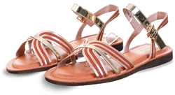 Una Healy Gold Hickory Wind Sandal