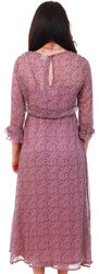 Jdy Pink / Wistful Mauve Printed Maxi Dress