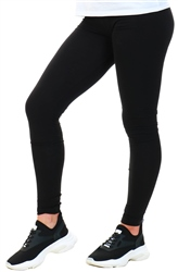 Pieces Black / Black Cotton Leggings