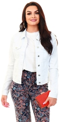 Veromoda White / Bright White Short Denim Jacket
