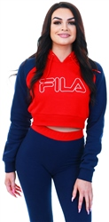 Fila Chinese Red / Peacoat / White Valeria Hoodie