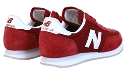 New Balance Classic Burgundy With White 720 Suede Panel Trainer