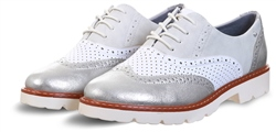 Zanni Silver Tampa Bay Panel Brogue