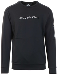 Kings Will Dream Black Avell Crew Sweater