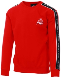 Kings Will Dream Red Roxberry Taped Crew Sweater
