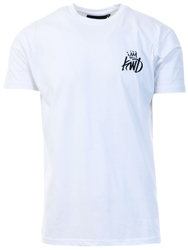 White Travis Crew Tee by Kings Will Dream