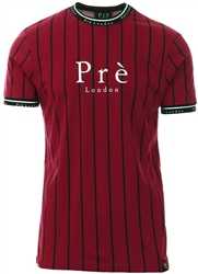 Pre London Burgundy / Black Power Pinstripe T-Shirt