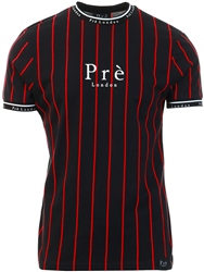 Pre London Black/Red Power Pinstripe T-Shirt
