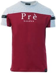 Pre London Grey/Burgundy Eclipse T-Shirt