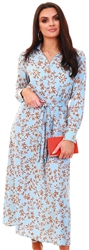 Only Blue / Cashmere Blue Printed Shirt Dress