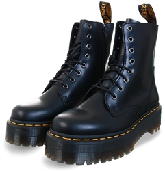 Dr Martens Black Jadon Hi Leather Platform Boots