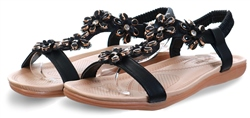 Krush Black Embellished Sandal