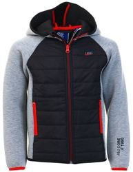 Jack & Jones Grey Boys Hooded Jacket