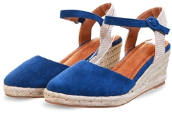 Refresh Navy Wedge Panel Sandal